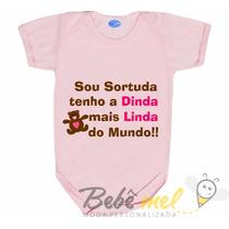 Body Para Bebê Com Frase Divertida De Dinda - Madrinha