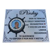Placa Recordatoria Con Marco Y Foto, Para Cementerio. 25x20