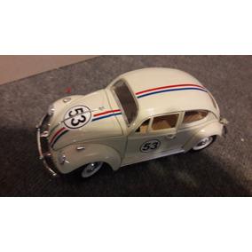 Vw Beetle Herbie Cupido Motorizado 1/18 Metal