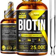 Cabello Asombroso Biotina 10,000 Mcg + 15,000 Mcg Colágeno
