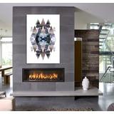 Cuadro Abstracto Geometrico Moderno Deco Crazy Rombo 60x90cm