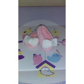 Hermosos Zapatos Para Bebe 9-12 Meses Tejido A Mano Crochet
