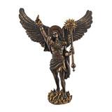 Arcángel Uriel Con Lanza Estatua Religiosa