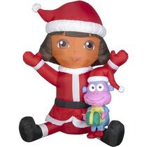 Dora La Exploradora Y Botas Inflable Navidad Adorno Navideño