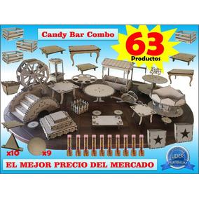 Candy Bar 63 Productos Combo Mdf Fibrofacil G I G A N T E.!!