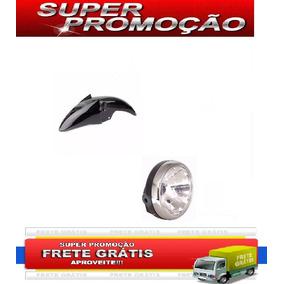 Paralama Dianteiro + Farol Kit Suzuki Yes 125 Preto