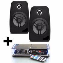Kit Som Ambiente Amplificador Bluetooth E Caixas Acústicas