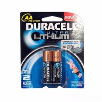 Pilha Aa Pequena Ultra Lithium C/2 Duracell 10 Vezes Mais