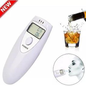 Bafometro Digital Mini Profissional Medidor Alcool Branco