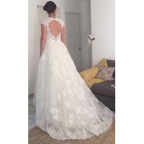 Vestido De Novia/boda Nuevo Con Encaje Fino Sin Ajustar