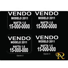 Cartel Calco Sticker Vendo Auto