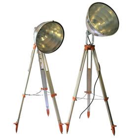 Lampra Vintage Reflector Industrial Tripie Topográfi Tribeca