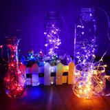 5m Luces Led Acuáticas Multicolor A Pilas Aa