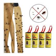Cinta Papel Tira Adhesiva Atrapa Moscas Insectos Moscos