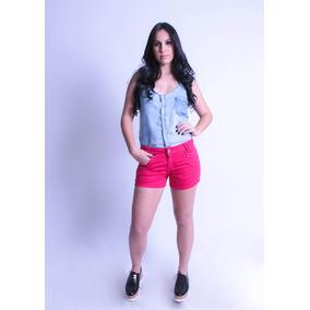 Short Jeans Feminino Colorido Verão Varias Cores