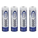 Pila Batería Recargable Aa 1.2v 3000mah Ni-mh