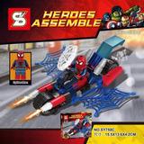 Kit Lego Homem Aranha Spiderman Marvel Super Heroes 88 Peças