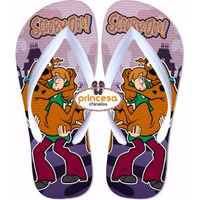 Chinelo Personalizado Do Desenho Scooby Doo 80 Pares Novo