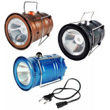 Lampião E Lanterna Led Recarregável. Bi-volt Solar Usb Cabo
