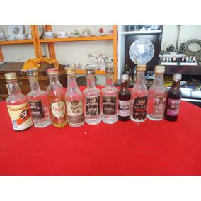 Antigo Lote Com 10 Garrafinhas Bebidas Antigas Variadas