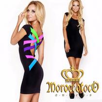 Vestido Impactante Y Moderno De Lycra Importado Art 3902