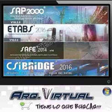 Csi Etabs, Bridge, Xrevit 2018, Csi Safe 16 Sap2000 20 Y Mas