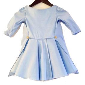 Hermoso Vestido Azul De Niña Talla 3-4 Diseñador Aldicci