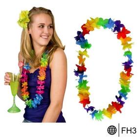 Collar Hawaiano Fiestas Disfraz Boda Xv Años Evento Batucada