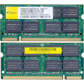 Memoria Notebook Ddr2 4gb 2 X 2gb 667mhz Elixir Pc2-6400