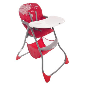 Silla Alta Ez Bite Plegable Hexagon Red, Infanti