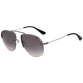 Prada Pr 58os - Óculos De Sol 5av 6t2 Prata Brilho/ Cinza