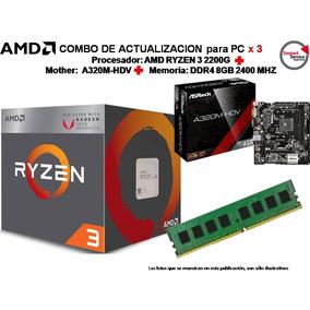 Combo De Actualización X3 Amd Ryzen 3 2200g+a320m+ddr3 4gb