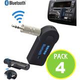 Pack 4 Receptor Bluetooth Adaptador Auto 10163 Fernapet