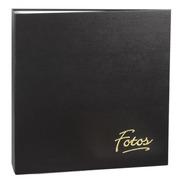 Álbum Mega 500 Fotos 10x15 Preto Ferragem + Refil 100 Fotos