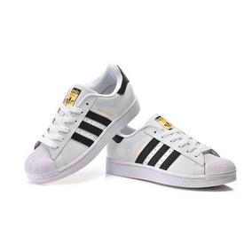Kit 3 Pares Tenis adidas Superstars Branco Ou Preto Couro