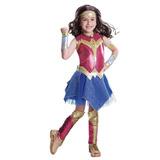 Fantasia Infantil Mulher Maravilha Infantil 8-10 Anos