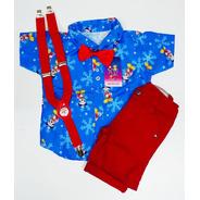 Conjunto Temático Mickey Natal Menino.luxo