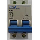 Minidisjuntor Padrão Din 2 Pólos Jng D247-63 6a