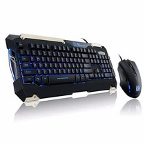 Kit Teclado Emouse Thermaltake Gamer Commander Kb-cmc-plb-01