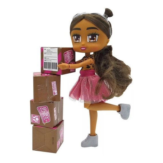 Boxy Girls Mu?eca Tv Accesorios Unbox Nena Juguete Nami