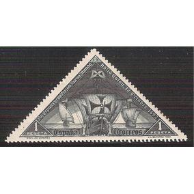 1930 España Colón Carabela 1 P. Sello Mnh Triangulares