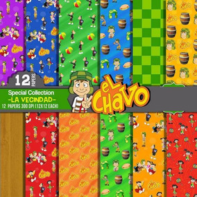 Kit Imprimible Pack Fondos El Chavo Del Ocho 40 Clipart