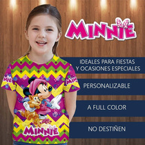 Franelitas Camisa Minnie , Cotillon, Fiesta, Invitacion,