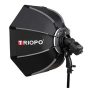 Difusor Triopo Hexa Softbox 55cm C/ Rotula P/ Flash Zapata