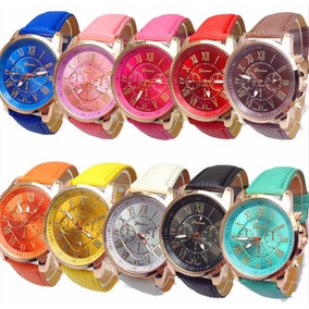 Lote 10 Reloj Relojes Geneva Hombres Mujeres Alta Calidad