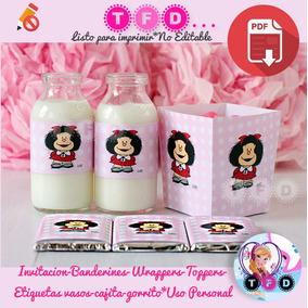 Kit Imprimible Mafalda Candy Bar Fiesta Invitacion Cumple
