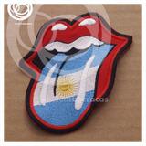 Parche Bordado Aplique Rolling Stones Lengua Stone Argentina