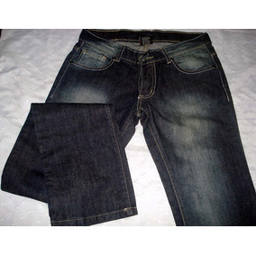 Jeans Dama Azul Recto T 36 Marca Inquieta Gastado Localizado