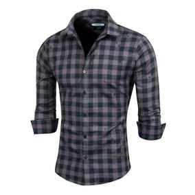 Camisa Splitter, Escocesa, Con Efecto Manchado,valkymia