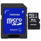 Micro Sd 8gb Clase 4 Toshiba Pack Mayorista X25 Unidades